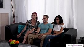 Jessica Jaymes, Anna Bell Peaks &amp_ Destiny Lovee fucking a huge cock, big boobs and big booty. Full sex movie