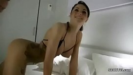 German Teen Fuck by Stranger when Mom and dad away