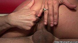 Big titted milf Persia Monir gets facial and creampie