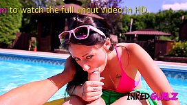 Inked Gurlz - Tattooed Step-Sister Fucked in the Family Pool