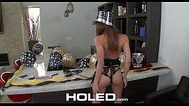 Holed - Moka Mora gets fucked on the bar counter while celebrating new years!