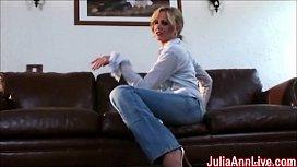 Sexy Milf Julia Ann Cums from Glass Dildo