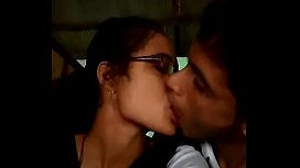 id 30726395: College boy & girl lipkiss in dhaba