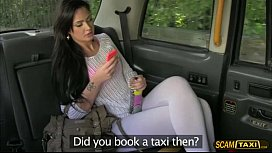 Lovely Sasha gives the driver a blowjob for the taxi fare