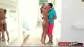 Big juggs milf Brandi Love FFM threesome