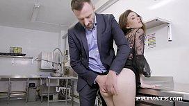 Private.com - Misha Cross Deep Throats &amp_ Anal Bangs A Cock!