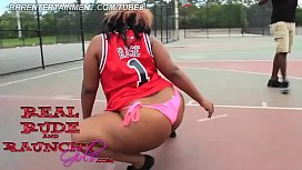 Big Booty Ebony Teen Shakes Huge Ass Booty For First Time