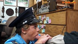 Busty police officer banged by pawn guy