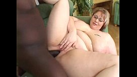 MateMature.com # Chubby Stacked Blonde Camila Sucks Black Cock And Is Boned