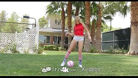 Tiny4k Soccer cutie long dick gym fuck with Scarlett Sage