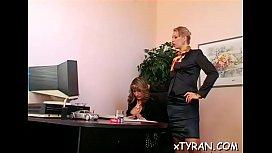 Naughty mistress humiliates bondman in some femdom fetish action