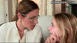 Stepmom in glasses caught teen Ava Hardy pounding with her BF
