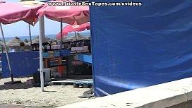 Public gi iend fuck near the beach scene