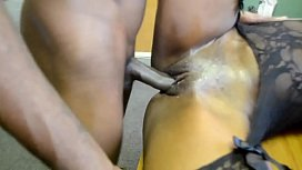 Armani Sticky's Big Black Booty gets drilled by BBC image
