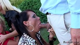 Mad Sex Party Gazebo Gobblers Pt HD; group, outdoor, hardcore, blowjob, blonde, pornstar, hd, 1080p, xnxx image