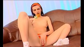 Needy amateur works toys and cock in her tiny cookie