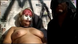 Nasty blonde cougar with big keyster Monalisa has copped off with mysterious black man during Carnival in Rio de Janeiro