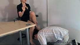 My hot boss is a secret dominatrix and mean bitch [FEMDOM]