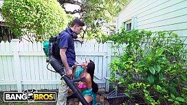 BANGBROS - Ebony Wifey Priya Price Cheats On Husband With The Gardener