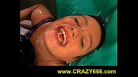 pissing in cum filled mouth of Betty