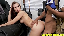Brunette MILF Aidra Fox fucking the hell out of this black boy