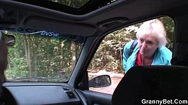 years old granny gets banged roadside