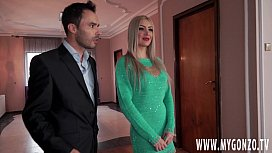 Big tit porn star Sexy Braileanca from Romania gets tricked by the Fake Real Estate Agent into a rough nasty foursome and receives a few cumshots on her big fake boobs