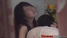 Asian babe watched riding