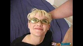 Tiny blonde lesbian sucks dick for cash