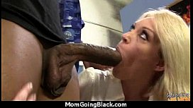 Mature Mom barely takes 10 inch Black Cock 10