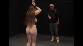 Whipping a fat-ass, Busty and hairy whore Julia