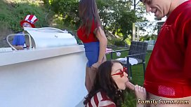 Caring milf Family Fourth Of July