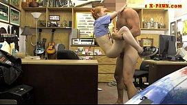 Very slim babe banged at the pawnshop