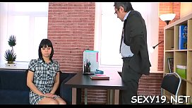 Wicked babe is riding on teacher'_s hard rod zealously