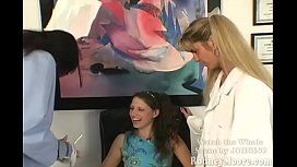 When PORN WAS FUN!! Lena Ramon visits HOWARD the DENTIST, and his assistants Ashley Shye and Mia Domore