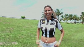 Slutty footbal girl in hot POV action