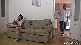 Older man lures hot sons girl