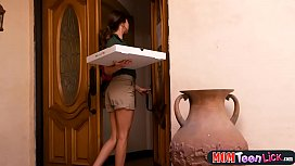Pizza place delivers fresh wet pussy to your doorstep