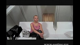 Casting - Natural busty blonde takes it deep