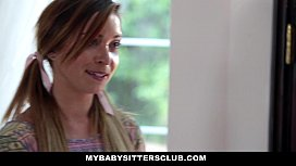 MyBabySitte ub Skinny Baby Sitter Caught Making Out With Her BF