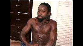 jamaican rasta man beats his meat