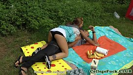College babe fucked at outdoor bbq xnxx image
