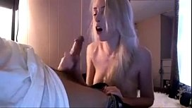 Perfect Blonde Gives An Amazing Amateur Blowjob