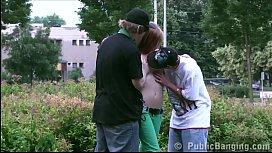 Cute y. girl Alexis Crystal public street sex gang bang orgy threesome