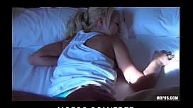 Beautiful bubble-butt blonde Destiny is woken up for rough-sex xvideo downloader