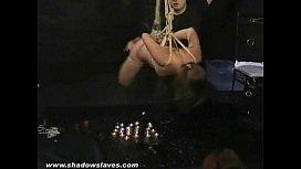 Japanese Teen Koko in Suspension bondage Over Fire