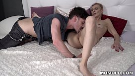 Granny neighbor fucks a big cocked guy - Belinda Bee and Parker Marx