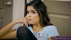 Latina stepsister Katya Rodriguez seduces her stepbro