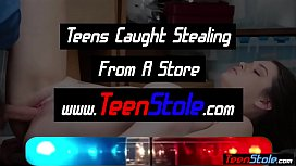 Busty teen shoplifter fucked her way out of trouble