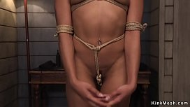 Natural ebony beauty gets anal training